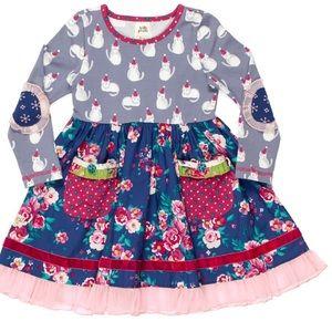 NWT Sz 8 Mandy Ballet Cat Dress Wildflowers